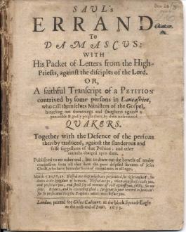 Saul's errand to Damascus (1653)