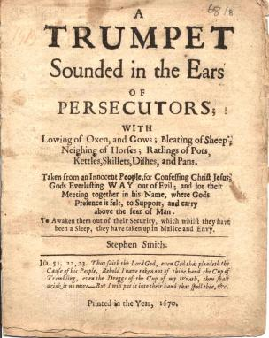 A trumpet sounded in the ears of persecutors (1670)