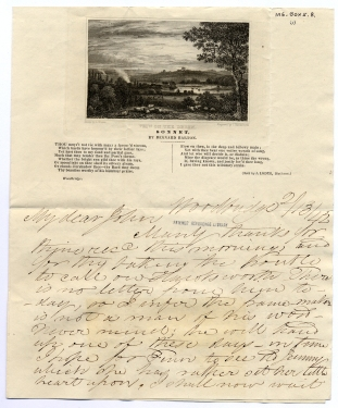 Letter from Bernard Barton to John W. Candler, 13.ii.1842 (Lib. Ref. MS BOX 5/8/1)
