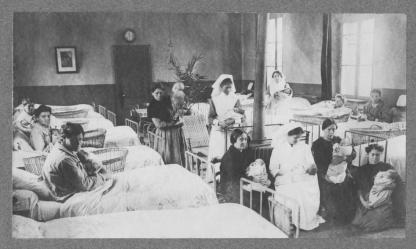 Ward scene, Châlons-sur-Marne Maternity Hospital