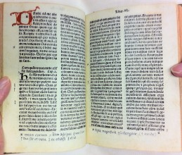 Pages from De Imitatione Christi by Thomas à Kempis, Milan, 1488