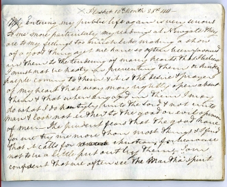 Elizabeth Fry's diary (1815-1821), entry of 28 October 1818