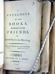 Catalogue bound with over 20 other Quaker meeting library catalogues