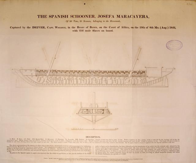 Josefa Maracayera slave ship plan 1822