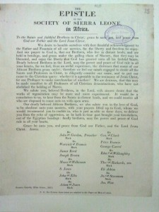 Epistle of the Society of Sierra Leone (1811)