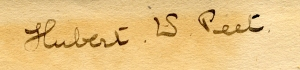 Signature of Hubert W. Peet
