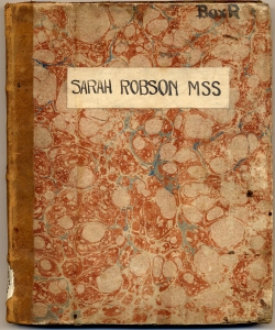 Cover, Sarah Robson's commonplace book