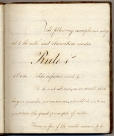 """Rule 1st"", Sarah Robson's commonplace book"