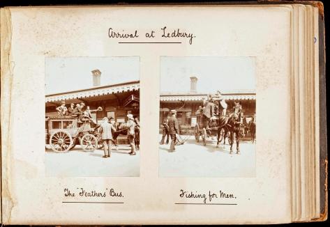 Falcons 1908 - Arrival at Ledbury-edit