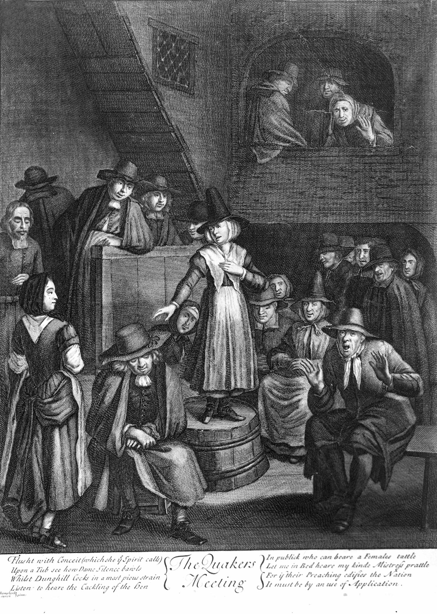 Quakers Quakers meeting...