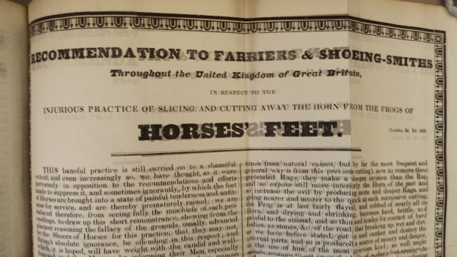Bracy Clark, Recommendation to farriers & shoeing-smiths throughout the United Kingdom. 3rd ed (1837)