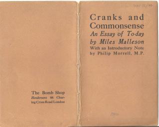 Malleson, Cranks and commonsense