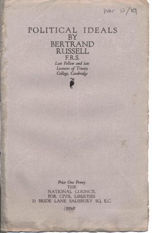 Russell, Bertrand. Political ideals
