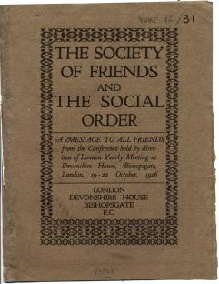 The Society of Friends and the social order