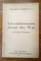 Williams, Un-commonsense about the war