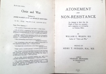 Wilson, Atonement and non-resistance