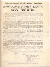 Britain's first duty. No war!