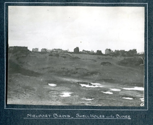 Nieuport - shell holes in the dunes