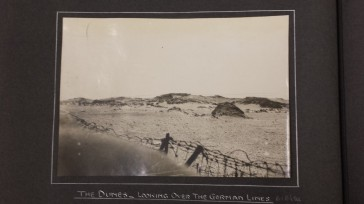 Nieuport - the dunes looking over the German lines