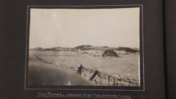 Nieuport - the dunes looking over the German lines