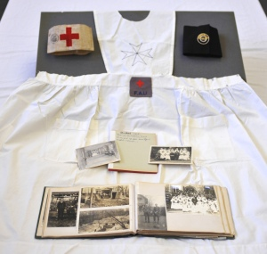 Rachel E. Wilson nurse's uniform and photographs