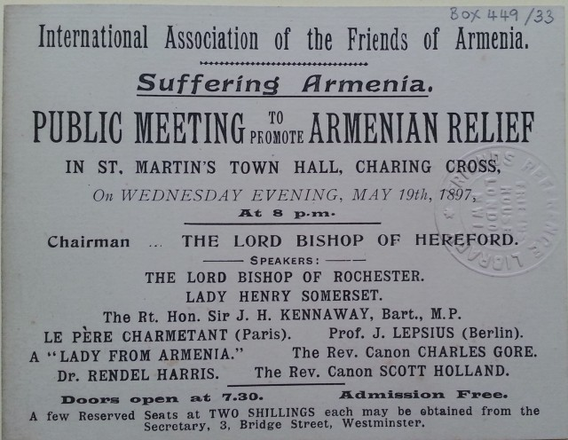 Suffering Armenia [public meeting 1897]