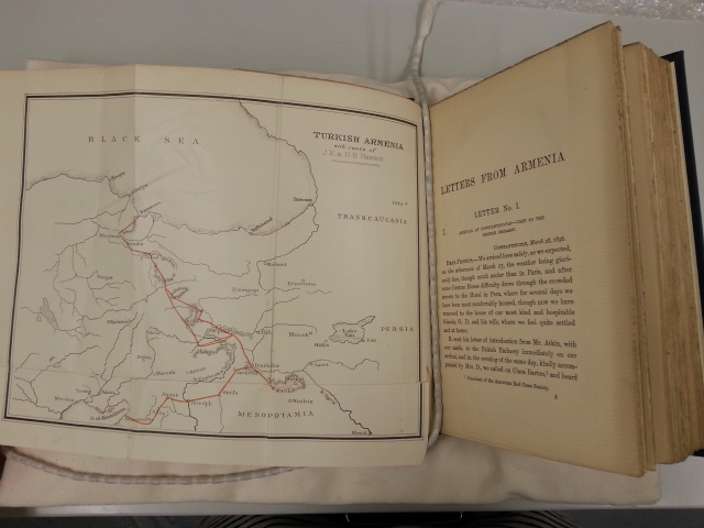 Map showing the route of J. Rendel and Helen Harris 1896