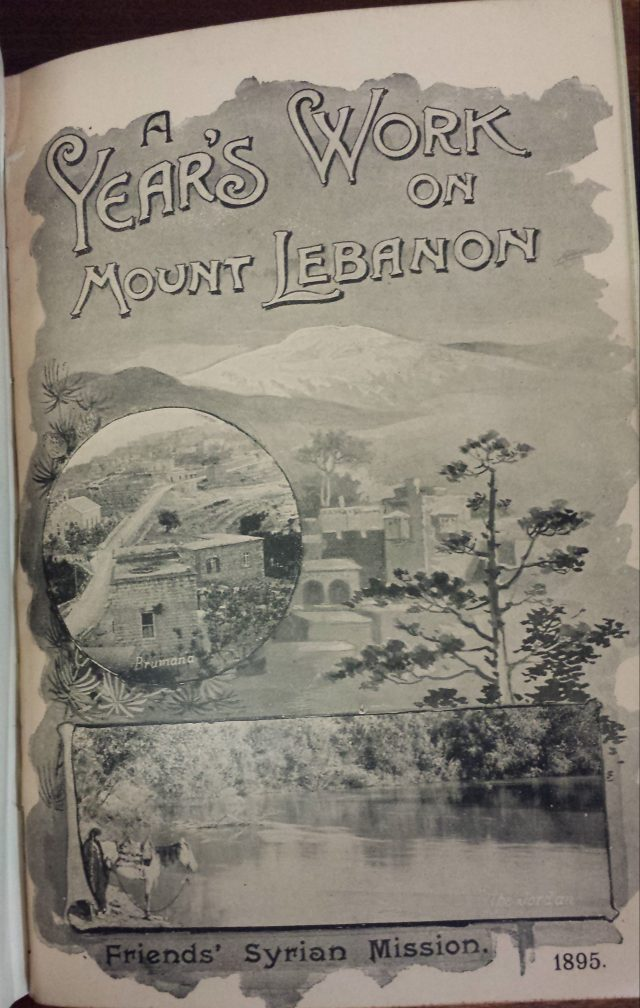 Friends Syrian Mission report 1895