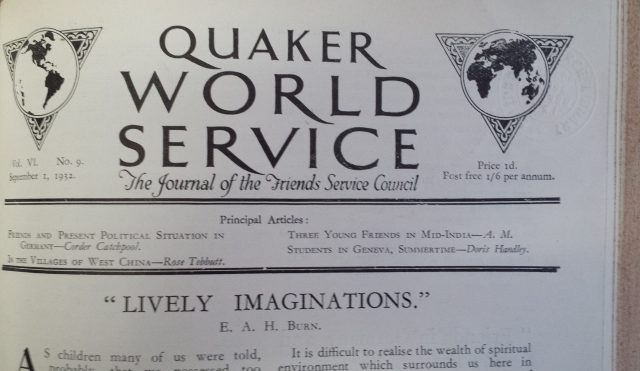 Quaker World Service (September 1932)