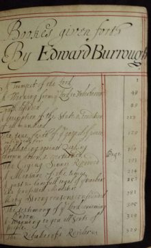 Tract volume 517, Gulielma Maria Springett's book - contents list