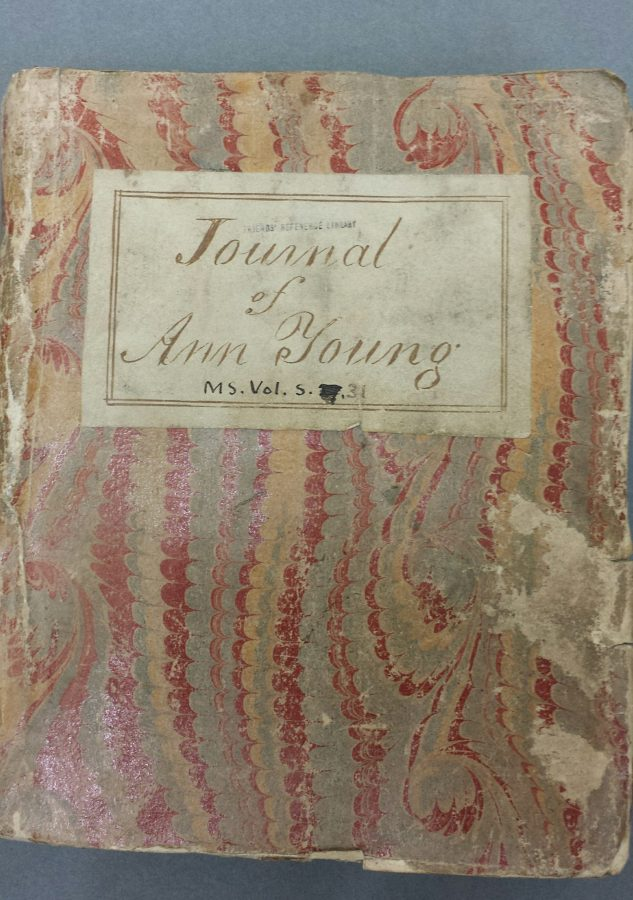 Journal of Ann Young, circa 1768 (Library reference MS Vol S 31)