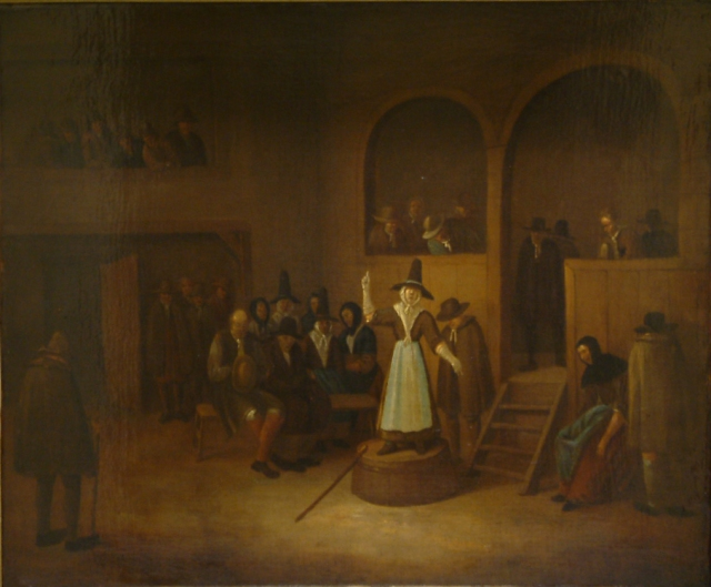 Quaker meeting attributed to Heemskerk F070