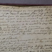 Diary of Lydia Hill, written while keeping a school in Frenchay, Bristol, Somerset, 1780-1783 (Library reference: MS Box Q5/1 )