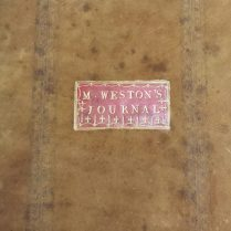 Mary Weston's Journal (Library reference: MS Vol 312)