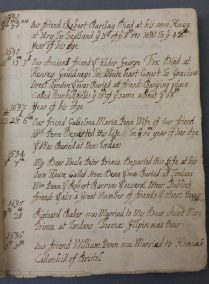 Rebekah Butterfield's Diary (Library reference: MS Vol S 73)