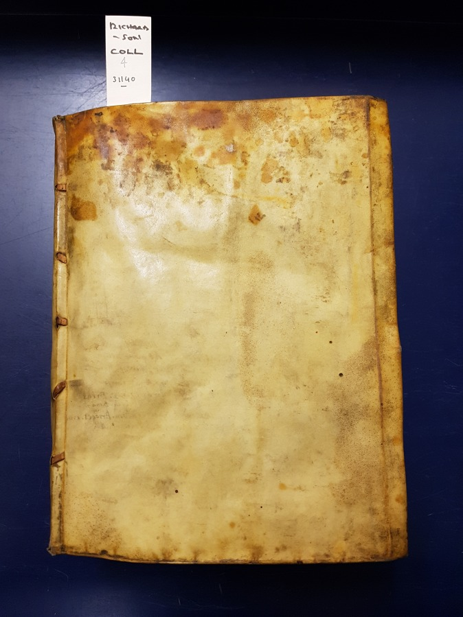 Vellum binding of Richardson Collection 4
