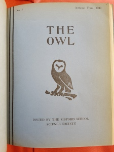 Sibford School Science Society, The Owl, no. 5 (Autumn 1939)