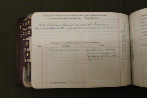 Maurice Seymer Hutchinson Carlisle MM Wartime Statistics Committee return (verso)