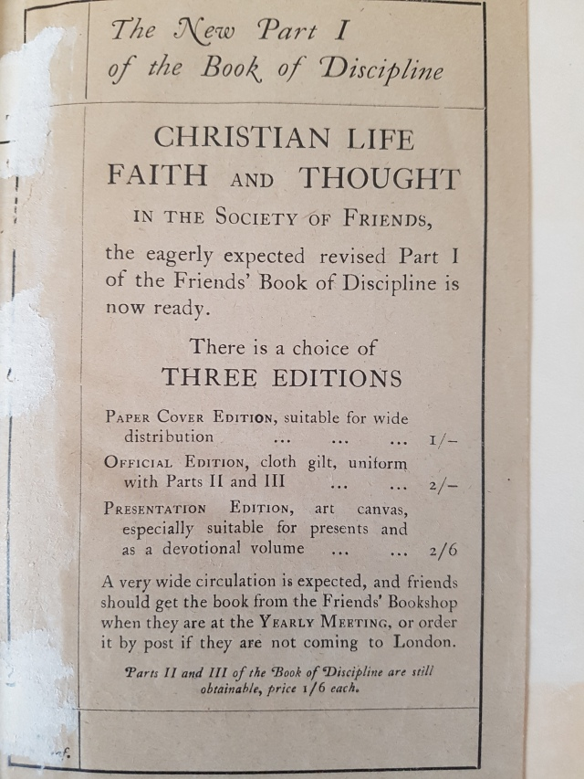 Christian life faith and thought 1922 flier