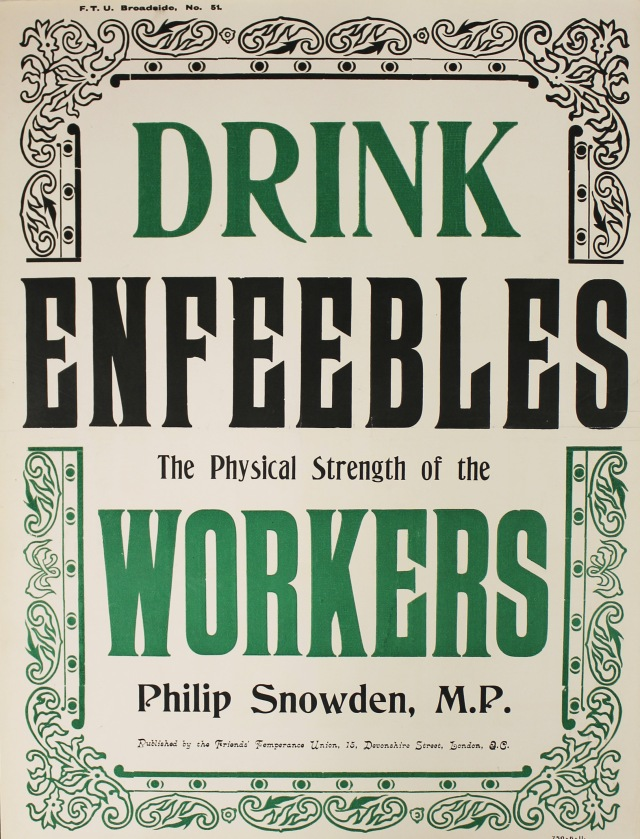 Drink enfeebles the workers. 1903. Poster (FTU poster 51)