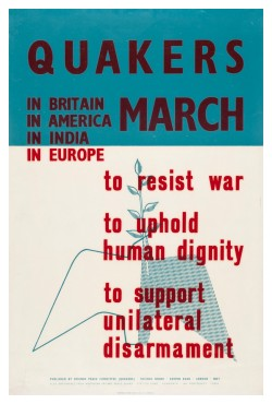 Quakers march. Poster