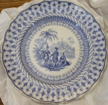 William Penn commemorative china: small plate