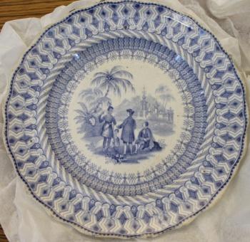William Penn commemorative china: small plate