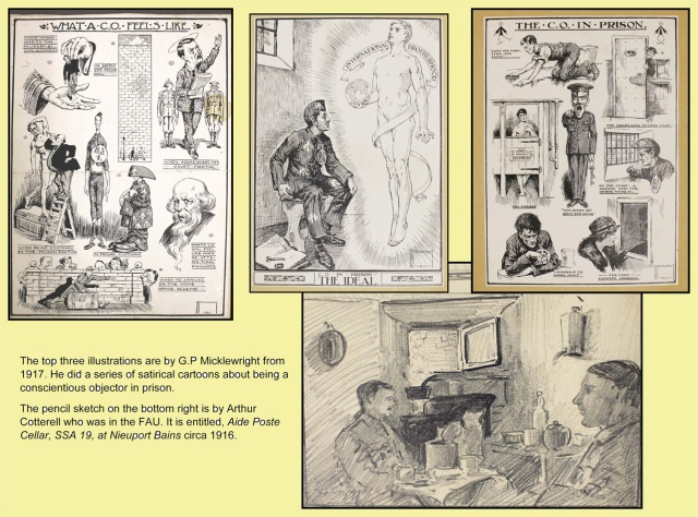 Drawings by G P Micklewright and Arthur Cotterell