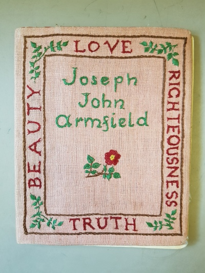 Joseph John Armfield's Journal cover