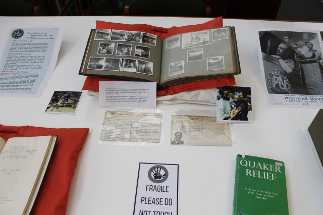 Items from display on World War II relief work at Yearly Meeting 2018