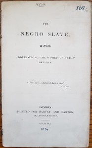 The Negro slave: a tale (1830), title page