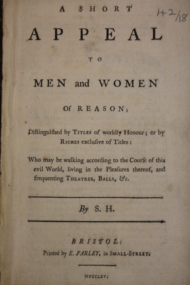 An Appeal to Men and Women of Reason by Sophia Hume (1765)