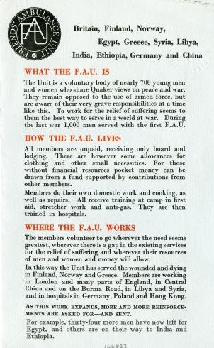 LSF FAU_2A WHAT IS THE FAU 1942