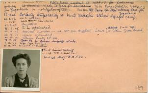 LSF TMSS 876 FAU CC personnel card HUGHES Elizabeth BACK